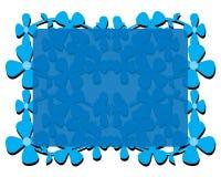 蓝色花框架 库存照片