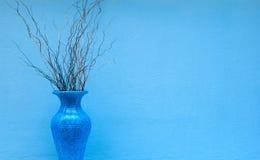 蓝色花瓶 库存图片