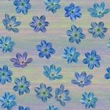 蓝色花的无缝的植物的样式 皇族释放例证