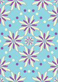 蓝色花紫色无缝 库存照片