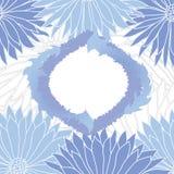 蓝色花背景 库存图片