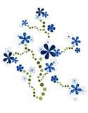 蓝色花装饰品 免版税库存照片