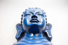 蓝色菩萨 白色背景的菩萨 图库摄影