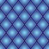 蓝色菱形无缝的样式 免版税库存图片