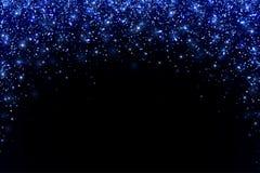 蓝色落的闪烁微粒,曲拱形式 向量 免版税图库摄影