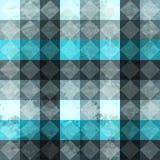 蓝色葡萄酒rombuses无缝的模式 免版税库存图片
