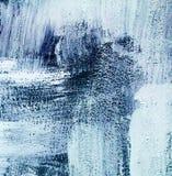 蓝色蓝绿色和白色抽象纹理背景掠过冲程 免版税图库摄影