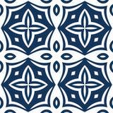 蓝色蔓藤花纹样式 库存例证