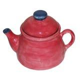 蓝色蔓越桔茶壶 免版税库存图片