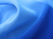 蓝色薄绢 库存图片