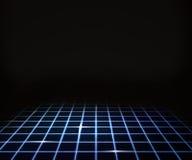 蓝色虚拟激光楼层背景 库存图片