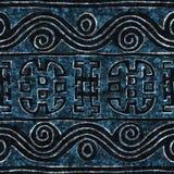蓝色蜡染布无缝的纹理 免版税库存照片
