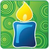 蓝色蜡烛圣诞节 免版税库存图片