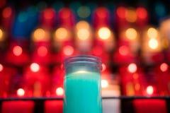 蓝色蜡烛蒙特塞拉特 库存图片