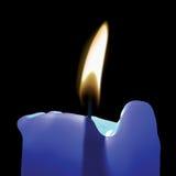 蓝色蜡烛 库存照片