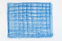 蓝色蜡笔画背景纹理 图库摄影