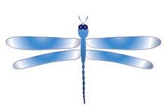 蓝色蜻蜓 向量例证