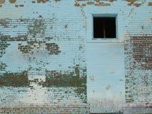 蓝色蝴蝶墙壁 免版税图库摄影