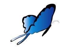 蓝色蝴蝶 皇族释放例证