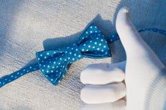 蓝色蝶形领结 图库摄影