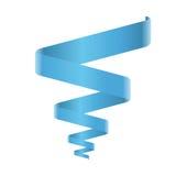 蓝色螺旋丝带传染媒介 免版税库存照片