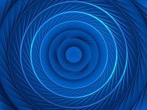 蓝色螺旋背景 向量例证