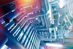 蓝色行业传递途径钢定调子区域 免版税库存图片