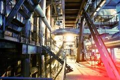 蓝色行业传递途径钢定调子区域 库存图片