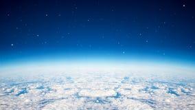 蓝色行星天空 库存照片