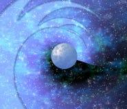 蓝色行星空间 免版税库存照片