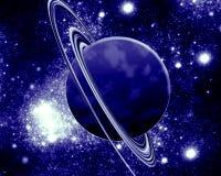 蓝色行星-幻想空间 免版税图库摄影