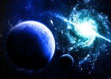 蓝色行星 库存照片