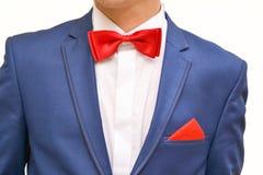 蓝色衣服的人 库存照片