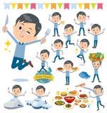 蓝色衣物玻璃dad_food节日 免版税库存照片