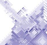 蓝色衰退流正方形 库存照片
