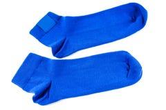 蓝色袜子 免版税库存照片