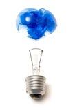 蓝色被中断的电灯泡 免版税库存图片