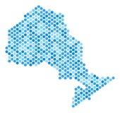 蓝色被加点的安大略省地图 向量例证