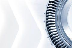 蓝色被定调子的喷气机引擎 免版税库存照片