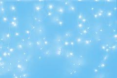 蓝色被带领的光 库存照片