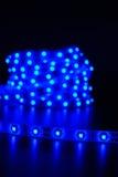 蓝色被带领的条纹 免版税库存图片