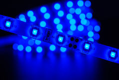 蓝色被带领的条纹 免版税图库摄影
