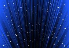 蓝色被排行的空间星形 图库摄影