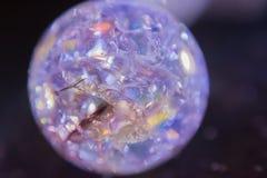 蓝色被点燃的玻璃大理石18 免版税图库摄影
