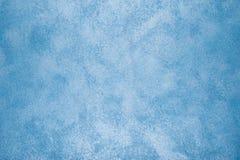 蓝色被绘的墙壁纹理 库存图片