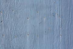 蓝色被绘的胶合板房屋板壁 免版税库存照片