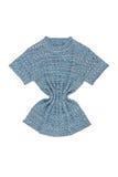 蓝色被编织的女衬衫 图库摄影