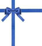 蓝色被隔绝的缎弓和丝带-集合13 库存照片