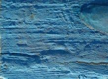 蓝色被绘的木表面纹理  图库摄影