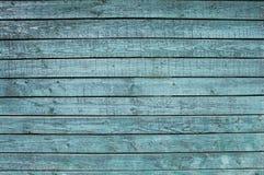 蓝色被绘的木头上纹理 免版税库存图片